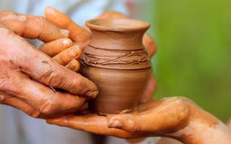 Free Closeup Pot Sculpted In Clay Stock Photo - 97458040