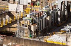 Closeup of  power station Royalty Free Stock Photos