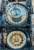 Closeup on Prague Astronomical Clock. On the Old Town Square - Prague, Czech Republic Royalty Free Stock Image