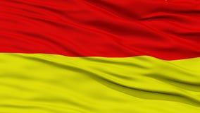 Closeup Pretoria City Flag, South Africa Royalty Free Stock Photos