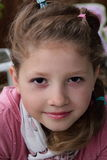 Closeup of pretty little girl Stock Photography