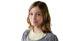 Closeup of a pretty tween girl Royalty Free Stock Image