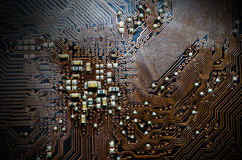Closeup Print Circuit Board Stock Photo
