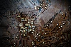 Closeup Print Circuit Board Stock Photo