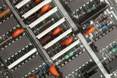 Closeup of printed circuit board Royalty Free Stock Photography