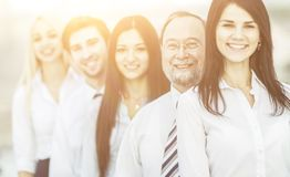 Concept of team work-professional business team standing next to each other Royalty Free Stock Photography