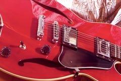 Closeup of Professional Electric Guitar Stock Photography