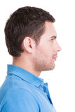Closeup profile portrait of  handsome man. Royalty Free Stock Photo
