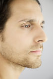 Closeup profile portrait of handsome serious man Royalty Free Stock Images