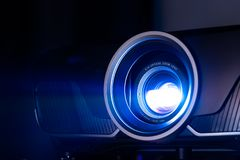 Closeup of projector. Closeup projector for cinema and presentation royalty free stock photo