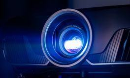 Closeup of projector. Closeup projector for cinema and presentation stock images