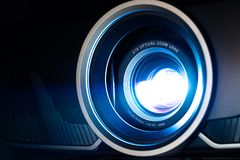 Closeup projector. For cinema and presentation stock photography