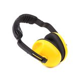 Closeup of protective ear muffs. Royalty Free Stock Photos