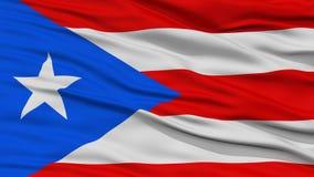 Closeup Puerto Rico Flag, USA tillstånd Royaltyfri Fotografi