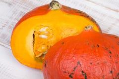 Closeup of a pumpkin Stock Image