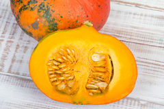 Closeup of a pumpkin. Organic vegetable Royalty Free Stock Image