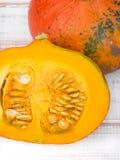Closeup of a pumpkin seeds Royalty Free Stock Image