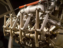Vintage Airplane Engine Royalty Free Stock Photos