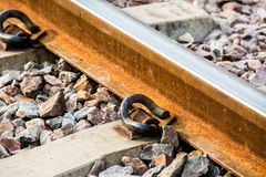 Closeup railway in lumphun Thailand.  Royalty Free Stock Image