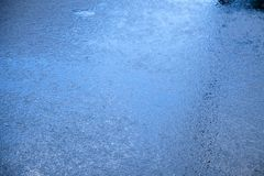 Wet Asphalt Blues Stock Photos