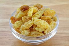 Closeup of Raisins, dried grapes Stock Image