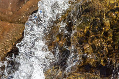 Closeup rapid waters of river strong Royalty Free Stock Images