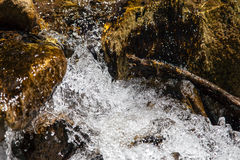 Closeup rapid waters of river strong Stock Photography