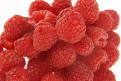 Closeup on Raspberries Stock Image