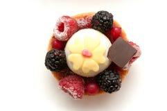 Closeup of raspberry cake Stock Image