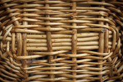 Closeup rattan wicker at basket bottom Royalty Free Stock Photos