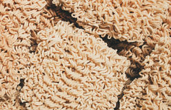 closeup raw instant noodle Royalty Free Stock Image