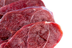 Closeup of raw uncooked lamb steaks Royalty Free Stock Image