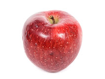 Closeup of a red apple Stock Images