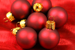 Closeup of red bauble Royalty Free Stock Photos