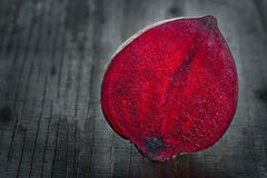 Closeup of red beet Stock Photography
