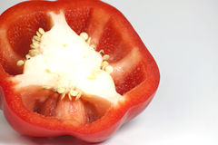 Closeup red bell pepper fresh Royalty Free Stock Images