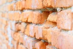 Closeup red brick Royalty Free Stock Image