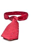 Closeup of a red business tie Royalty Free Stock Image