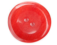 Closeup of red button Stock Photo