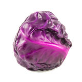 Closeup red cabbage isolated on a white Stock Photography
