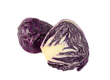 Closeup red cabbage isolated on a white Stock Photo