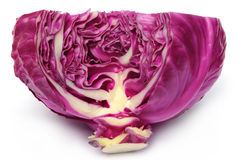 Closeup of red cabbage Royalty Free Stock Photo