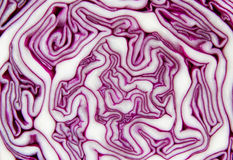 Closeup of a red cabbage sliced ​​in half Stock Photo