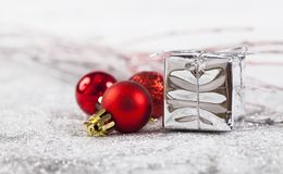 Closeup on red Chrismas decorations Stock Image