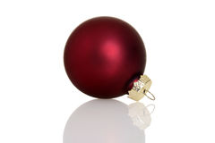 Closeup red christmas ball Stock Images