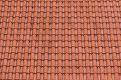 Closeup of the red clay roof tiles. As a background Stock Images