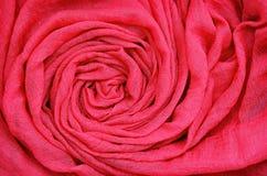 Closeup of red draped fabric Stock Image