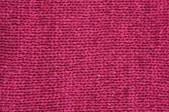 Closeup of red fabric. Red hand woven fabric Background or texture Royalty Free Stock Photos