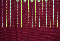 Closeup red fabric Royalty Free Stock Images