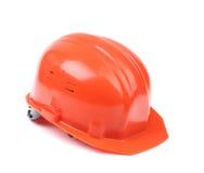 Closeup of red hard hat. Stock Photos